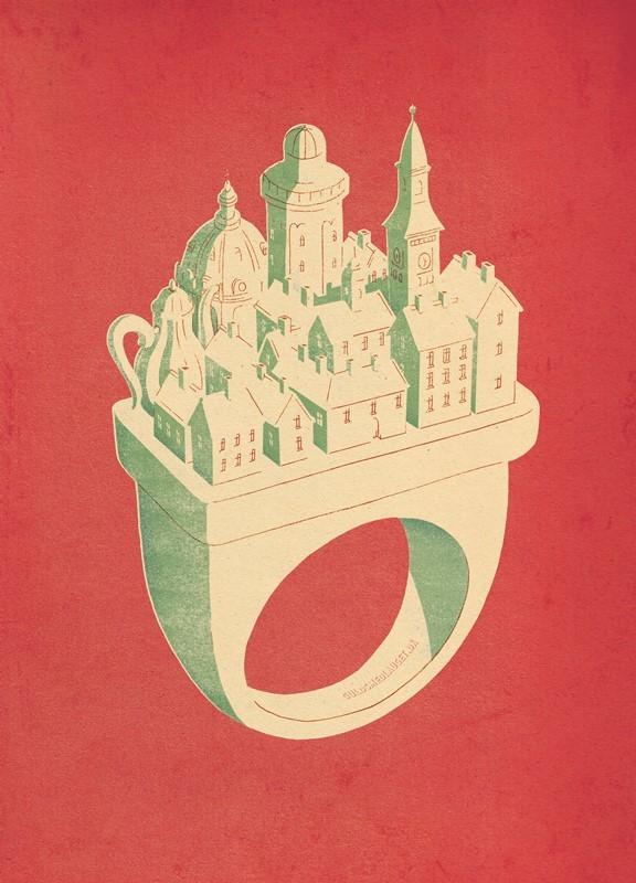 """Logo for """"Smykkernes by"""", Kjøbenhavns Guldsmedelaug"""