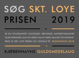 Søg Skt. Loye Prisen 2019 allerede nu.