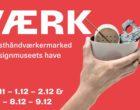 Værk - julemarked i Designmuseum Danmarks have