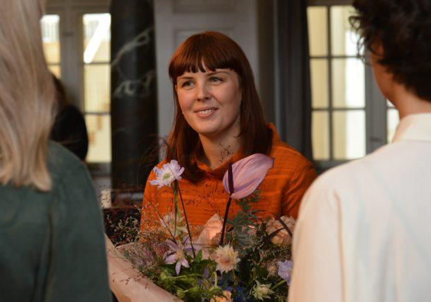 Guldsmed Marie RImmen modtager Skt. Loye Prisen 2019